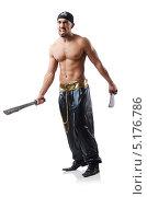 Купить «Мужчина в карнавальном костюме пирата. Изолировано на белом», фото № 5176786, снято 13 июня 2013 г. (c) Elnur / Фотобанк Лори