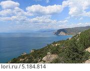 Купить «Пейзаж. Вид на мыс Ай-Фока. Крым», фото № 5184814, снято 16 июля 2013 г. (c) Denis Kh. / Фотобанк Лори