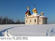 Купить «Дорога к храму», фото № 5203902, снято 21 декабря 2012 г. (c) Марина Орлова / Фотобанк Лори