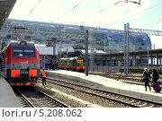 Купить «Новый железнодорожный вокзал в Адлере, Краснодарский край», фото № 5208062, снято 6 октября 2013 г. (c) Ирина Иванова / Фотобанк Лори