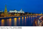 Купить «Москва, вечерний Кремль», фото № 5210090, снято 19 сентября 2013 г. (c) ИВА Афонская / Фотобанк Лори