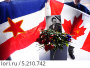 Купить «Похороны первой леди Йованки Броз, вдовы первого президента бывшей Югославии Иосипа Броз Тито», фото № 5210742, снято 26 октября 2013 г. (c) oxana krutenyuk / Фотобанк Лори