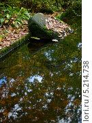 Пейзаж с камнем в воде. Стоковое фото, фотограф Vladimir 'Seagull' Maksimov / Фотобанк Лори