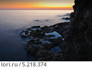 Морской пейзаж на закате. Стоковое фото, фотограф Тимур Уразов / Фотобанк Лори