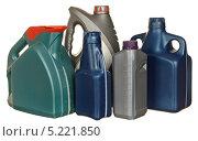Купить «Пластиковые бутылки с автомобильным маслом», фото № 5221850, снято 9 октября 2011 г. (c) Наталья Аксёнова / Фотобанк Лори