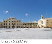 Купить «Павловск. Панорама Большого дворца», фото № 5223198, снято 27 марта 2013 г. (c) Ирина Борсученко / Фотобанк Лори