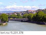 Купить «Мост Бараташвили через реку Мтквари. Тбилиси. Грузия», фото № 5231378, снято 3 июля 2013 г. (c) Евгений Ткачёв / Фотобанк Лори