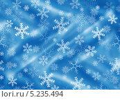 Купить «Новогодний голубой фон со снежинками», иллюстрация № 5235494 (c) Светлана Ильева (Иванова) / Фотобанк Лори