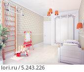 Купить «Интерьер детской комнаты», иллюстрация № 5243226 (c) Виктор Застольский / Фотобанк Лори