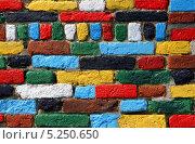Разноцветная кирпичная стена. Стоковое фото, фотограф Kate Chizhikova / Фотобанк Лори