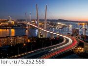 Панорама вечернего Владивостока (2013 год). Стоковое фото, фотограф Наталья Волкова / Фотобанк Лори