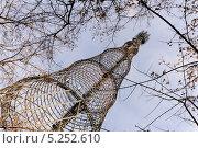 Купить «Шуховская башня на Шаболовке в Москве», эксклюзивное фото № 5252610, снято 6 ноября 2013 г. (c) Алёшина Оксана / Фотобанк Лори
