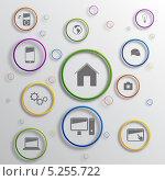 Купить «Инфографика с набором различных символов», иллюстрация № 5255722 (c) Андрей Ярославцев / Фотобанк Лори
