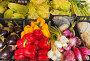 Уличная торговля свежими овощами. Перцы, лук, баклажаны, капуста и салат в ящиках, фото № 5263734, снято 27 сентября 2013 г. (c) Виктория Катьянова / Фотобанк Лори