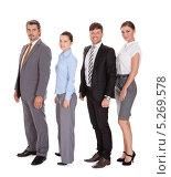 Купить «ростовой портрет команды деловых людей», фото № 5269578, снято 25 августа 2013 г. (c) Андрей Попов / Фотобанк Лори
