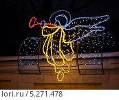 Купить «Праздничное световое оформление», фото № 5271478, снято 15 января 2013 г. (c) Людмила Жмурина / Фотобанк Лори