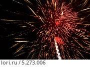 Купить «Красный фейерверк на темном небе», фото № 5273006, снято 13 октября 2012 г. (c) Иван Бондаренко / Фотобанк Лори