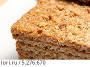 """Купить «Торт """"Наполеон"""" крупным планом», фото № 5276670, снято 7 ноября 2013 г. (c) Владимир Белобаба / Фотобанк Лори"""