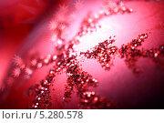 Купить «Розовый новогодний шар», фото № 5280578, снято 9 октября 2008 г. (c) Иван Михайлов / Фотобанк Лори