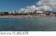 Купить «Пляж Coral Bay на Кипре, вид с моря», видеоролик № 5282678, снято 14 ноября 2013 г. (c) Кекяляйнен Андрей / Фотобанк Лори