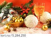 Новогодняя композиция. Стоковое фото, фотограф Виктор Топорков / Фотобанк Лори