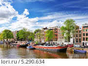 Купить «Канал в центре города Амстердама, Голландия», фото № 5290634, снято 19 сентября 2013 г. (c) Vitas / Фотобанк Лори