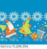 Купить «Новогодний фон с дедом Морозом и елкой», иллюстрация № 5294354 (c) Елисеева Екатерина / Фотобанк Лори