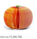 Купить «Бумажный мандарин», фото № 5296766, снято 17 ноября 2013 г. (c) Максим Пименов / Фотобанк Лори