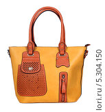 Купить «Модная женская сумка на белом фоне», фото № 5304150, снято 29 октября 2013 г. (c) Egorius / Фотобанк Лори