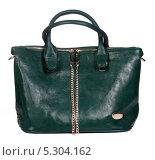 Купить «Зеленая женская сумка», фото № 5304162, снято 29 октября 2013 г. (c) Egorius / Фотобанк Лори