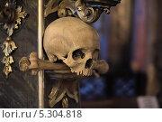 Купить «Череп и кости. Костехранилище в Седлеце. Чехия», фото № 5304818, снято 20 июля 2019 г. (c) Илюхин Илья / Фотобанк Лори