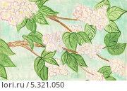Цветущая яблоня. Стоковая иллюстрация, иллюстратор Гузель Гайсина / Фотобанк Лори