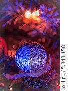 Новогодняя игрушка. Стоковое фото, фотограф Анастасия Ефремова / Фотобанк Лори