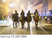 Купить «Конная полиция на улицах Праги», фото № 5347494, снято 21 ноября 2018 г. (c) Илюхин Илья / Фотобанк Лори