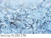 Купить «Красивые узоры инея на стекле», фото № 5355178, снято 31 января 2010 г. (c) Алексей Попов / Фотобанк Лори