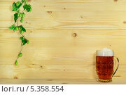 Пиво и хмель. Стоковое фото, фотограф Сергей Огарёв / Фотобанк Лори