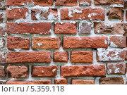Купить «Кирпичная стена Свято Благовещенского мужского монастыря в Муроме. Фон», фото № 5359118, снято 26 мая 2013 г. (c) Алёшина Оксана / Фотобанк Лори