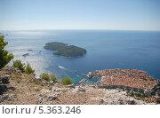 Купить «Дубровник (Dubrovnik). Вид со смотровой площадки», эксклюзивное фото № 5363246, снято 21 сентября 2012 г. (c) Svet / Фотобанк Лори