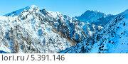Зимний вид на гору Мармолада, Италия. Стоковое фото, фотограф Юрий Брыкайло / Фотобанк Лори