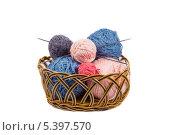 Шерстяные нитки для вязания. Стоковое фото, фотограф Геннадий Машанин / Фотобанк Лори