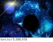 Купить «Черная дыра в космическом пространстве», фото № 5398918, снято 15 июня 2013 г. (c) Наталья Спиридонова / Фотобанк Лори