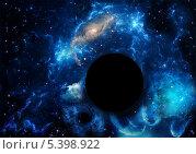 Купить «Черная дыра в космическом пространстве», фото № 5398922, снято 15 июня 2013 г. (c) Наталья Спиридонова / Фотобанк Лори