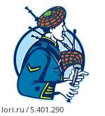 Купить «Музыкант играет на волынке», иллюстрация № 5401290 (c) Aloysius Patrimonio / Фотобанк Лори