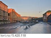 Купить «Санкт-Петербург. Конюшенная площадь», эксклюзивное фото № 5420118, снято 12 сентября 2013 г. (c) Александр Алексеев / Фотобанк Лори