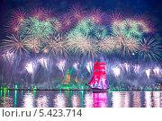 Купить «Санкт-Петербург. Алые паруса 2013», эксклюзивное фото № 5423714, снято 24 июня 2013 г. (c) Литвяк Игорь / Фотобанк Лори