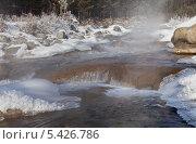 Перепады на горной реке зимой. Стоковое фото, фотограф Виктория Катьянова / Фотобанк Лори