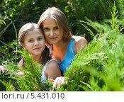 Купить «Старшая и младшая сестра на прогулке», эксклюзивное фото № 5431010, снято 10 августа 2013 г. (c) Игорь Низов / Фотобанк Лори