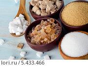 Купить «Различные виды сахара на столе», фото № 5433466, снято 13 декабря 2013 г. (c) Tatjana Baibakova / Фотобанк Лори