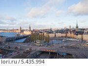 Купить «Швеция. Стокгольм. Вид на старый город со смотровой площадки», эксклюзивное фото № 5435994, снято 23 ноября 2013 г. (c) Литвяк Игорь / Фотобанк Лори