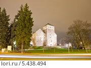 Купить «Ночной вид на Замок Турку, Финляндия», эксклюзивное фото № 5438494, снято 22 ноября 2013 г. (c) Литвяк Игорь / Фотобанк Лори